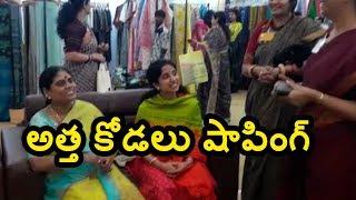 Watch: YS Vijayamma and YS Bharathi shopping moments..