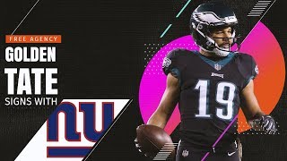Golden Tate Signs with the New York Giants!