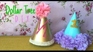 Dollar Tree DIY: Baby Birthday Hats