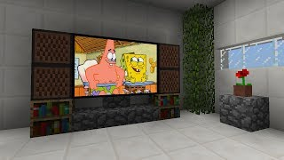 How To Make a TV in Minecraft PE 📺