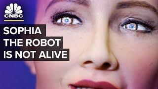 Humanoid Robot Sophia - Almost Human Or PR Stunt   CNBC