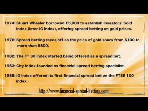 History and Origins of Spread Betting
