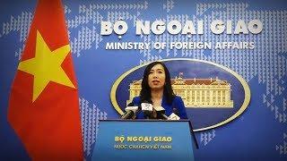 Phát ngôn chính thức Bộ ngoại giao Việt Nam về diễn biến mới nhất trên Biển Đông tại Bãi Tư Chính