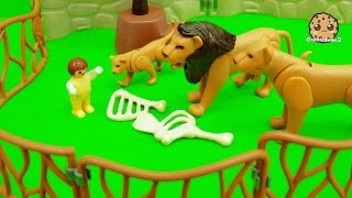 Baby Gets Lost At Playmobil City Zoo - Toy Play Video