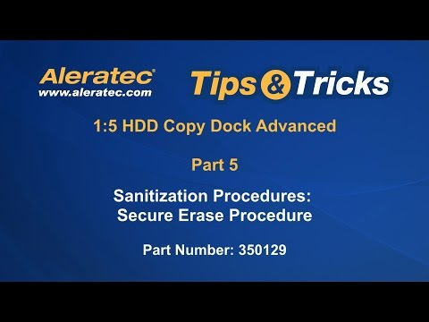 How To Secure Erase 1:5 HDD Copy Dock Advanced 350129 - Aleratec Video Tutorial Part 5