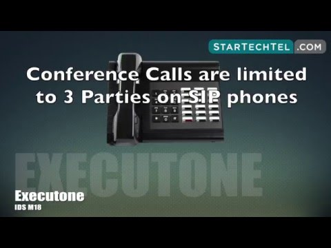 How To Place A Conference Call On The Executone IDS M18 Phone