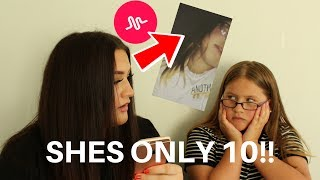 REACTING TO MY LITTLE SISTERS CRINGEY MUSICALLYS PT.3