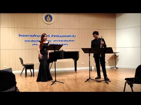 Kittikun Jungate and Nathida Gumchai performs Song of The Cotton Grass : Hilary Tann