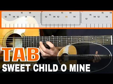sweet child o 39 mine guitar tab youtube. Black Bedroom Furniture Sets. Home Design Ideas