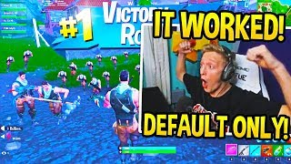 "TFUE *CRIES OF LAUGHTER* PLAYING ""DEFAULT SKIN WARS"" in Fortnite!"