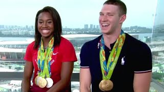 Olympics | Simone Manuel, Ryan Murphy Interview on Rio Wins