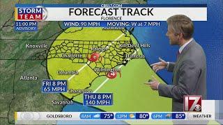 11 p.m. Sunday Hurricane Florence Update