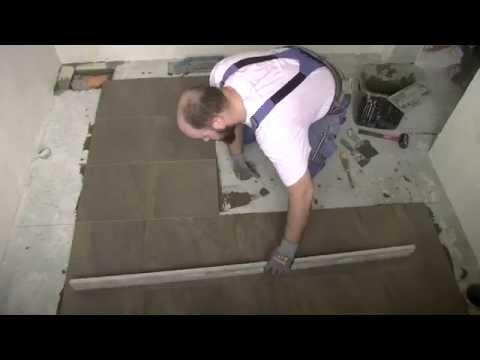 Как выкладывать плитку на пол