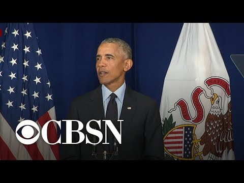 Obama on Trump, challenges to democracy - full speech