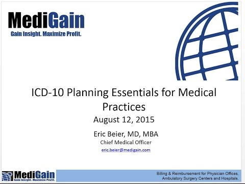 MediGain Client  ICD 10 Transition Planning Essentials 8 12 15