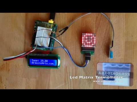 Arduino Tutorial - Led Matrix Emoji temperature sensor