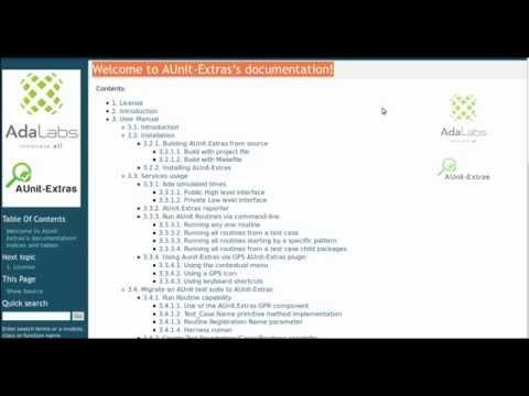 AdaLabs AUnitExtras Test Management Trailer 2015