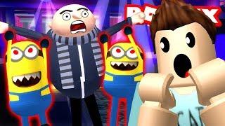 MINIONS TURNED EVIL?!! Roblox Minion Adventure Obby - Part 1