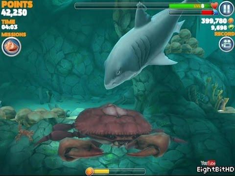 Hungry shark evolution megalodon vs giant crab - photo#39