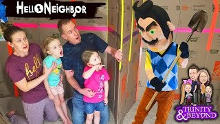 Hello Neighbor in Real Life! World's Biggest Escape Room Game! Levels 1 - 4