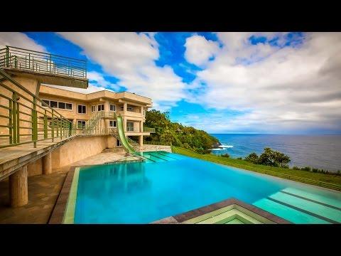 Veľkolepá moderná luxusná rezidencia na Havajskom pobreží ostrov Big Island