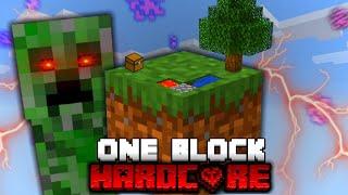 Minecraft One Block Skyblock, but it's HARDCORE!