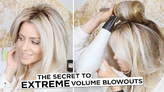 The Secret to EXTREME Volume Blowouts - with NO Frizz