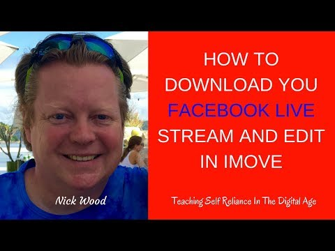 How To Download Your Facebook Live Stream And Edit Your Video In iMovie