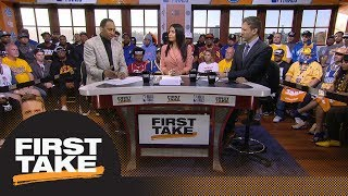 Stephen A. and Max react to Warriors defeating Cavaliers in Game 2 of NBA Finals   First Take   ESPN
