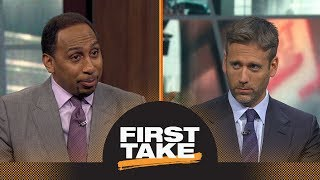 Stephen A. Smith and Max Kellerman debate Carmelo Anthony's worth to the Rockets   First Take   ESPN