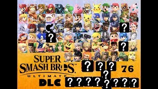 MY FINAL ROSTER PREDICTION w/DLC Smash Bros Ultimate