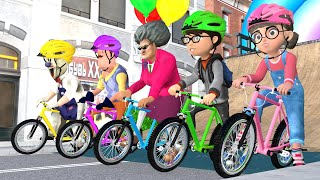 Scary Teacher 3D Sick -Tani hate Ice Scream - Dinosaur bicycle racing!!! Funny Animation and The end