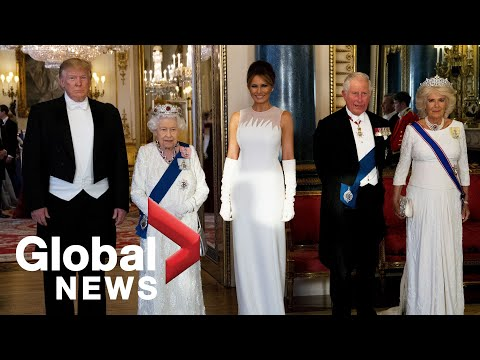 Trump attends royal state banquet hosted by Queen Elizabeth II