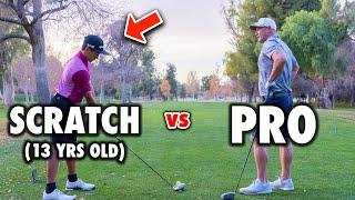 13 Year Old Scratch Golfer / Amateur vs PGA Pro   Exp Golf
