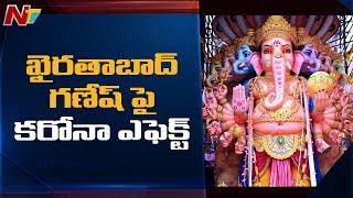 Coronavirus effect on height of Khairatabad Ganesh idol..