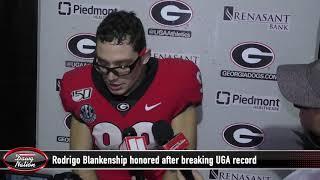 Georgia kicker Rodrigo Blankenship honored after setting UGA record