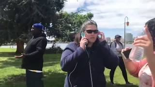 White lady calls cops for charcoal BBQ at the park