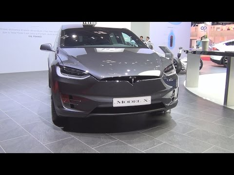 Tesla Model X (2017) Exterior and Interior in 3D