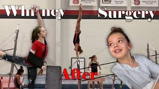 Whitney's gymnastics after her elbow surgery