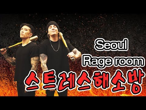 스트레스해소방 - 오늘 다 박살냅니다 서울레이지룸 방문기 FEAT. 데이브+몬스터우 Stressed? Break stuff. Seoul Rage Room ft Monster Woo