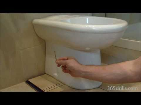 How To Fix Anchor Bolts For Toilet Pans Into Tiled Floors