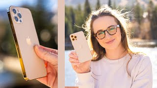 GOLD iPhone 12 Pro Unboxing + Camera Test