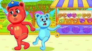 [Gummy]  Mega Gummy Bears Little Baby Want To Eat Candy - Cartoons for Kids & Nursery Rhymes