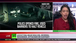 3 injured in shooting outside NSA in Maryland, suspect arrested