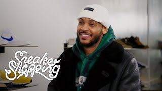 Carmelo Anthony Goes Sneaker Shopping With Complex