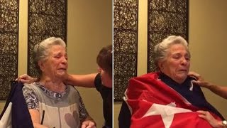 85-Year-Old Cuban Grandma Sheds Tears of Joy After Fidel Castro's Death