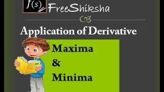 Maxima & Minima : IIT JEE ADVANCED MAINS MATHS BITSAT CBSE 11th 12th CALCULUS