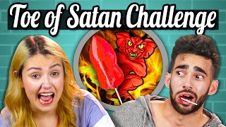 WORLD'S HOTTEST LOLLIPOP CHALLENGE! (TOE OF SATAN) | People Vs. Food