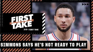 Stephen A. reacts to Ben Simmons telling the 76ers he is not ready to play   First Take