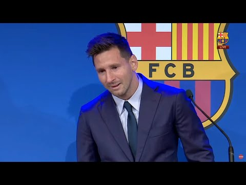 Lionel Messi Emotional Farewell To Barcelona